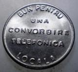1.184 ROMANIA SART JETON TELEFONIC UNA CONVORBIRE TELEFONICA LOCALA 22mm