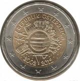 AUSTRIA 2 euro comemorativa 2012 TYE - 10 ani euro, UNC
