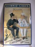 Reclama tabla vintage Leibniz-Cakes, 60x40cm, de perete, decor, Germany
