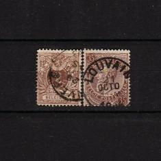 1884 Belgia King Leopold II #42,46 MH B004, Stampilat