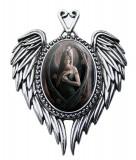 Pandantiv Enchanted Cameos - Înger cu trandafir
