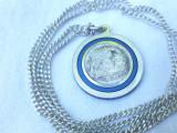 MEDALION argint ZEITA VANATORII DIANA la romani ARTEMIS la greci pe Lant argint