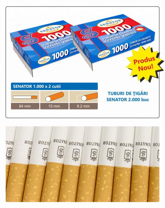 SENATOR 2 X 1.000 - 2000 Tuburi de tigari cu filtru pentru injectat tutun