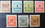 Germania-Reich, Cifre in cerc. Inflatia, 1923, MNH, Nestampilat