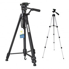 Pachet Trepied foto telescopic Weifeng WT-3560 universal 64-167 cm + Trepied...