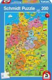 Cumpara ieftin Puzzle Cartoon map of Germany, 200 piese, Schmidt