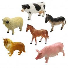 Set animale domestice 6 piese Unika Toy Farm 24391, Multicolor