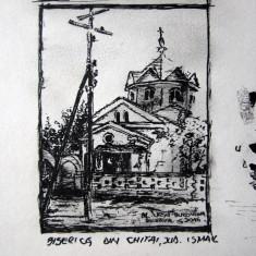 Alexandru Ursu-Bukowina - Biserica din Chitai, județul Ismail, interbelic