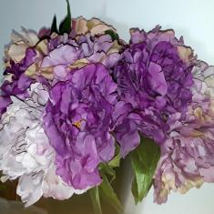 Buchet flori artificiale - DALIE  DOVER 5 fire LILA MOV , inălțime 25  cm