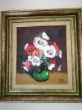 Tablou Nicolae BLEI,Flori,ulei