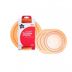 Set farfurii Tommee Tippee Essentials 3 buc portocaliu