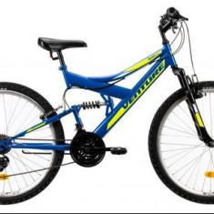 Bicicleta Mountain Bike Venture 2640, Roti 27.5inch, Frane mecanice pe disc, Cadru 457mm (Albastru)