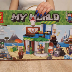NOU/SIGILAT - Set de 446 piese lego tip Minecraft My World LELE 33221
