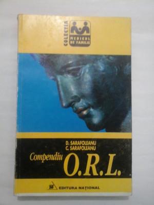 COMPENDIU O.R.L. - D. SARAFOLEANU/ C. SARAFOLEANU foto