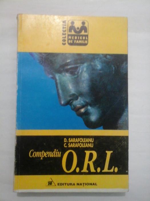 COMPENDIU O.R.L. - D. SARAFOLEANU/ C. SARAFOLEANU