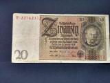 Bancnota Germania, 20 Mărci, 1929, F