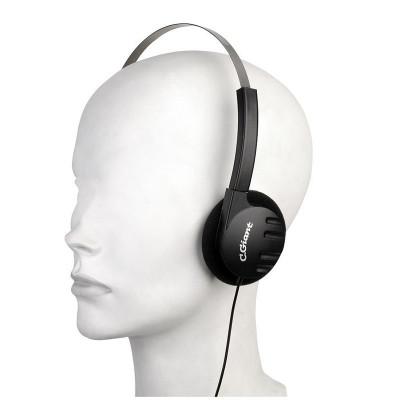 Casti stereo cu difuzoare pliabile, mufa 3.5 mm, fir 5 m, negru, Sal foto