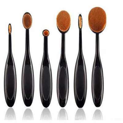 Set 6 pensule Ovale Profesionale pentru Make-up foto