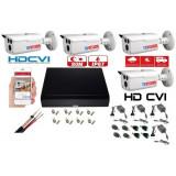 Cumpara ieftin Kit supraveghere video 4 camere Rovision OEM DAHUA 2MP IR 80m, DVR 4 canale, cu accesorii incluse