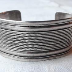 BRATARA argint TRIBALA lata REGLABILA vintage VECHE de efect MASIVA splendida