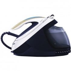 Statie de calcat cu abur Philips PerfectCare Elite GC9635/20, 2700 W, OptimalTEMP, 7.5 bar, jet de abur 520 g, rezervor de apa 1.8 l, alb/albastru
