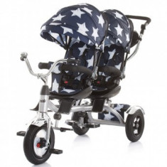 Tricicleta Pentru Copii gemeni Chipolino Tandem - Stars