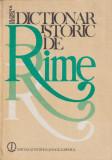 Cumpara ieftin Dictionar istoric de rime (Dosoftei - Arghezi) - Olimpia Berca
