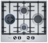 Plita incorporabila Bosch PCI6A5B90, Gas, 4 arzatoare, Gratare fonta (Inox)