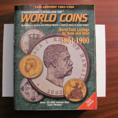 "CY Catalog faimos pentru monede ""WORLD COINS / Krause / Editia 3 / 1801 - 1900"""