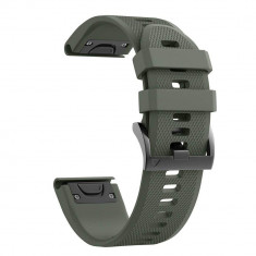 Curea silicon Tech-Protect Smooth Garmin Fenix 5/6/6 Pro Army Green