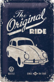 Placa metalica - VW Beetle - The original Ride - 20x30 cm
