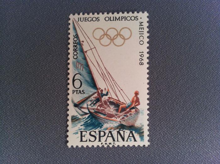 Timbru Spania 1968 6 Ptas Jocurile Olimpice Mexic