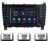Cumpara ieftin Navigatie Mercedes Benz C-Class W203 CLC, Android 10, QUADCORE PX30 2GB RAM + 16GB ROM cu DVD, 7 Inch - AD-BGWMBCCM7P3