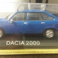 macheta dacia 2000 deagostini masini de legenda romania - 1/43, noua.