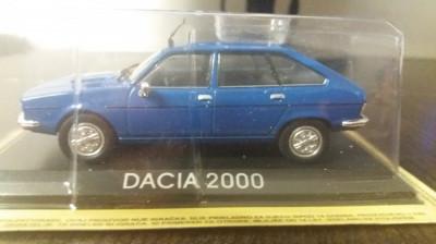 macheta dacia 2000 deagostini masini de legenda romania - 1/43, noua. foto