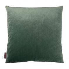 Fata de perna de catifea uni , verde , 40 x 40 cm