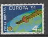 ROMANIA 1991 LP 1252 EUROPA CEPT,  SERIE NESTAMPILTA COMPLETA, Nestampilat
