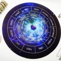 Placa pendul Astrologie +3 penduluri cadou ametist,cuart roz,cristal de stanca