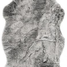 Covoras blana artificiala, piele sintetica 55x85