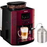 Espressor automat Krups Espresseria EA8165, 1450W, 15 bar, 1.7 l, Rosu/Negru