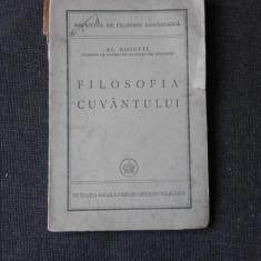 FILOSOFIA CUVANTULUI - AL. ROSETTI