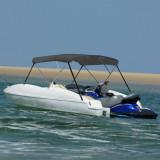 Parasolar barcă Bimini cu 3 arcuri, antracit, 183x196x137 cm, vidaXL