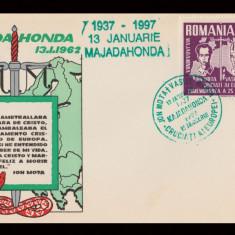 1997 Exil Romania - Plic comemorare 60 ani Majadahonda, legionari Mota si Marin