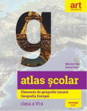 Atlas școlar. Elemente de geografie umană. Geografia Europei. Clasa a VI-a