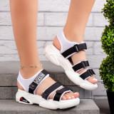 Sandale sport dama albe cu negru Himelia