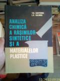 Analiza chimica a rasinilor sintetice si a materialelor plastice – T.N. Kasterina
