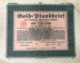 1000 Goldmark Titlu de stat Germania 1929