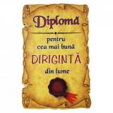 Magnet Diploma pentru Cea mai buna DIRIGINTA din lume, lemn, Alexer