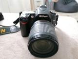 Aparat foto Nikon D90 cu obiectiv