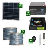 Gard electric Animale Sălbatice 6,6J putere cu Sârmă 2000m și Panou Solar